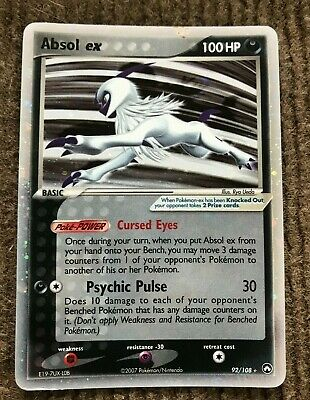 Pokemon Card Absol ex, 92/108, EX Power Keepers Set, Rare Holo, Near Mint