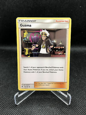 2017 Pokemon Burning Shadows Guzma Uncommon card 115/147 Non Holo