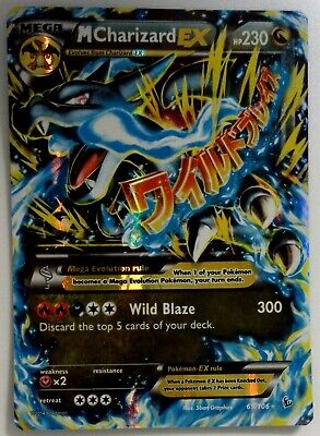 M CHARIZARD EX 69/106 Flashfire Pokemon Card SLIGHT PLAY SHIPOS FREE W TRACKING