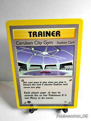 Pokemon 1st edition Cerulean City Gym Trainer 108/132 Gym Heroes  NM ⭐