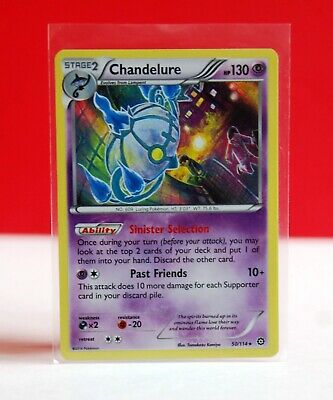 Pokemon Chandelure HOLO Steam Siege 2016 Trading Card (Plastic Sleeves Included)