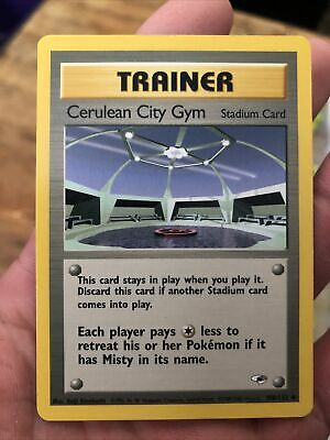 Cerulean City Gym 108/132 -Gym Heroes Pokemon Card Mint Condition