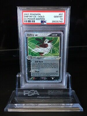 PSA 10 💎 Holo Shiftry Ex 🍃Power Keepers Pokemon Card 97/108