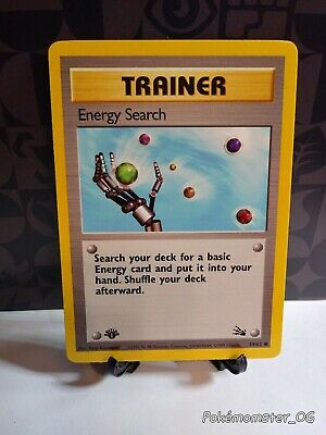 Pokemon 1st edition Energy Search Trainer 59/62 Fossil NM/MINT