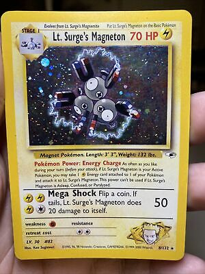 Lt. Surge's Magneton 8/132 Gym Heroes Unlimited Pokemon Card PL