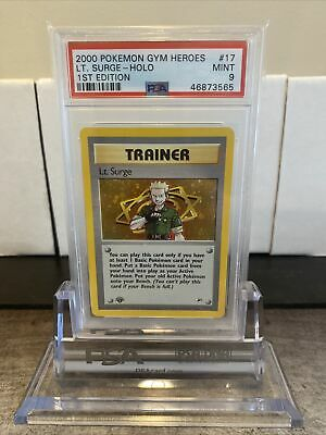 Pokemon Gym Heroes 1st Lt Surge Trainer Psa 9