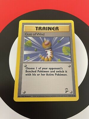 Gust of Wind Trainer Pokemon Card 120/130 ~ Base Set 2 NM