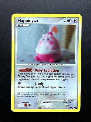 Happiny 14/17 Pop Series 8 Holo Promo Pokemon Trading Card Game Lightly Played