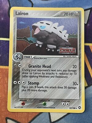 Lairon 32/108 EX Power Keepers | Reverse Holo | Pokemon Card
