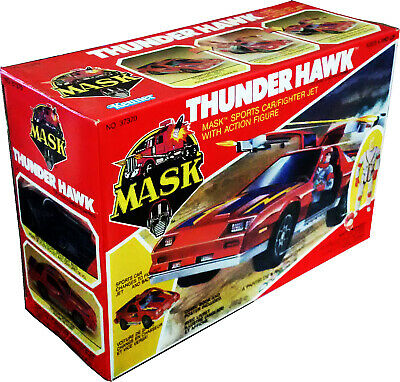 m.a.s.k. mask kenner  thunder hawk vintage 1985  collectible misb new! afa it!