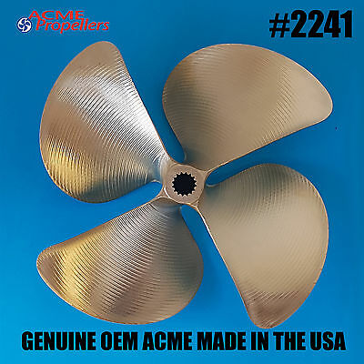 2241 Acme Ski Wake Propeller Prop 15 X 14.25 (4 Blade) Splined Left Hand Turn