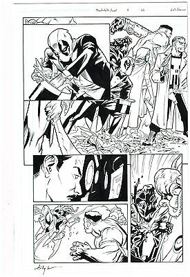 Original Art: Thunderbolts Annual #1 Pages 22 & 23! Splash By Matteo Lolli!