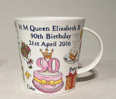 Dunoon Royalty Commemorative Hm Queen Elizabeth Ii 90th Birthday Whimsical