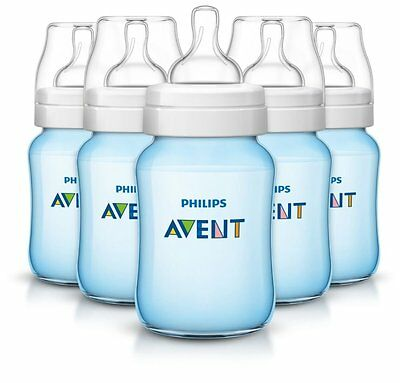 Philips Avent Anti-colic Baby Bottles, Blue, 9 Ounce