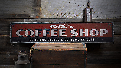 delicious blends and bottomless cups  rustic distressed wood sign ens1001779