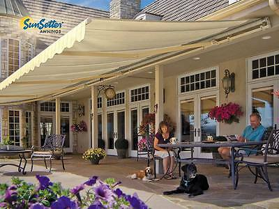 Sunsetter Motorized Retractable Awning, 20x10 Ft. Deck & Patio Sunsetter Awning