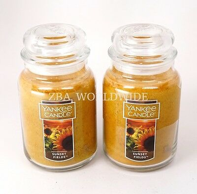 New Lot Of 2 Yankee Candle Sunset Fields Large 22 Oz Jar Candles