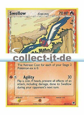 Pokemon EX Dragon Frontiers 40/101 - Swellow Englisch