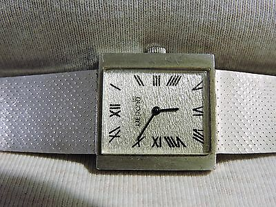 Vintage Merano 14k Solid White Gold Very Rare & Collectible Roman Numbers Superb
