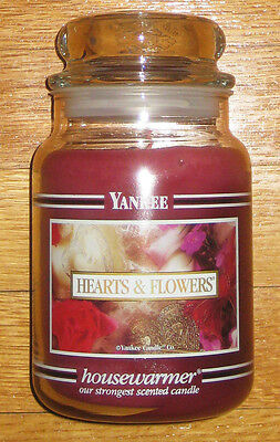 Yankee Candle - 22 Oz - Hearts & Flowers - Black Band - Very Hard To Find!!!