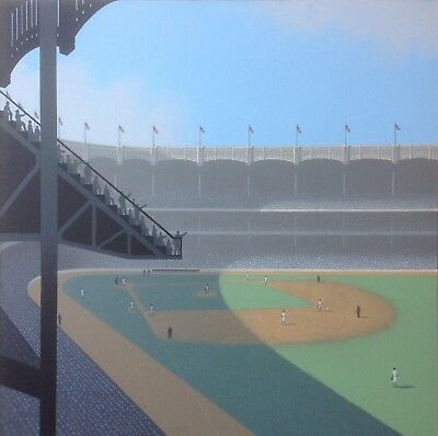 Yankee Stadium.    Original Painting By Lynn Curlee