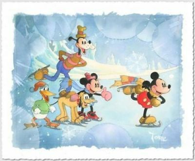 """""""winter Wonderland"""" By Toby Bluth With Mickey And Friends"""