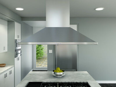 """Zephyr Essentials Europa 48"""" Stainless Island Hood -zsle-48bs"""