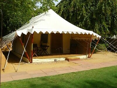 Campaign Canopy Style Canvas Tent Waterproof High Quality Outdoor Garden Resort