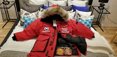 "2019 Latest Grey Label Edition Red Canada Goose Snow Mantra ""small"" Parka Jacket"
