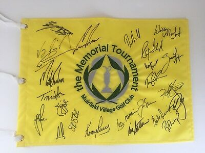 Memorial Tournament Winners Signed Auto Pin Flag Pga Jack Nicklaus Norman Kuchar