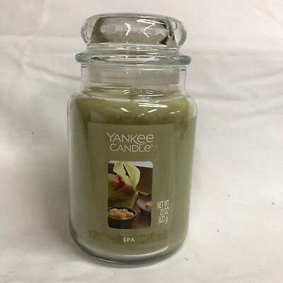 Yankee Candle Spa Large 22 Oz Jar Candle Single Wick Super Clean, Fresh Scent!