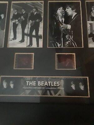 the beatles film cell framed pbotos