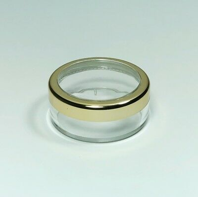 2000 Cosmetic Jars Empty Makeup Containers Gold Trim Acrylic Lid 20 Gram #3022