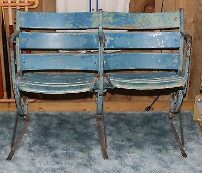 || Pair Old Yankee Stadium Wooden Seats Circa 1950