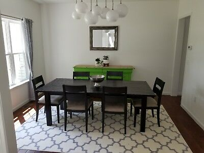 Crate And Barrel Dining Table With 6 Chairs