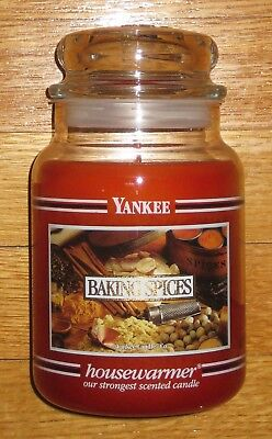 Yankee Candle - 22 Oz - Baking Spices - Black Band - Rare And Hard To Find!!