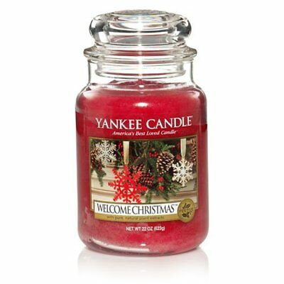 Yankee Candle - Welcome Christmas - 22 Oz - Great Christmas Candle!! - Rare!!