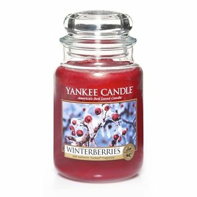Yankee Candle - Winterberries - 22 Oz - Great Christmas Candle!! - Rare!!