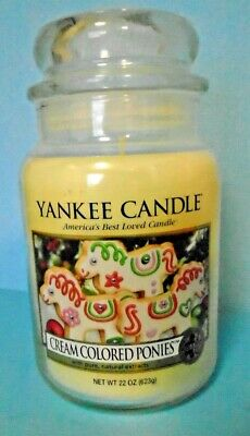 Yankee Candle Cream Colored Ponies Food & Spice Collection 22 Oz Large Jar