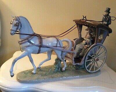 """Lladro Porcelain Figurine """"a Day With Mom"""" Retired In 2002. Hard To Find!"""