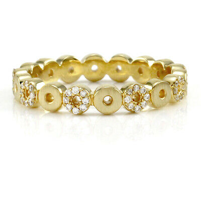 Norman Covan Diamond Open Circles Eternity Gold Band
