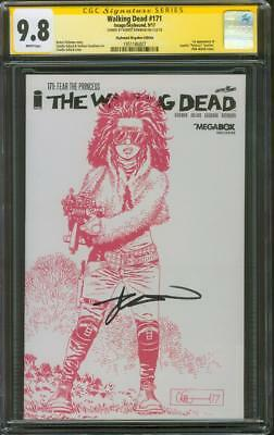 Walking Dead 171 Cgc Ss 9.8 Kirkman 1st Princess Pink Sketch Skybound Variant