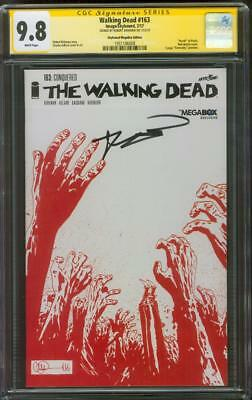 Walking Dead 163 Cgc 9.8 Ss Kirkman Skybound Exclusive Sketch Variant Cover