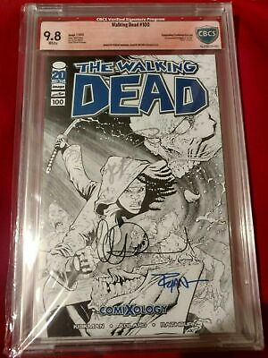 Walking Dead #100 Ryan Ottley Comixology Sketch Variant 1st Negan Triple Signed