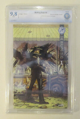 Walking Dead #1 Cbcs 9.8 Nm/mt Sdcc Skybound 5th Anniversary Like Cgc Color
