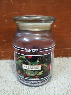Yankee Candle Mulberry Black Band Used Rare Originally 22 Oz
