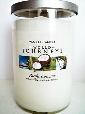 Yankee Candle World Journeys Pacific Coconut Tumbler Jar Candle, 20 Oz., New