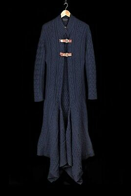 Auth! Very Rare! Museum Piece! Alexander Mcqueen Runway Cable Knit Coat A/w