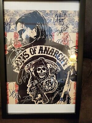 Sons Of Anarchy 12 Real Signatures Including Johnny Lewis Including Coa