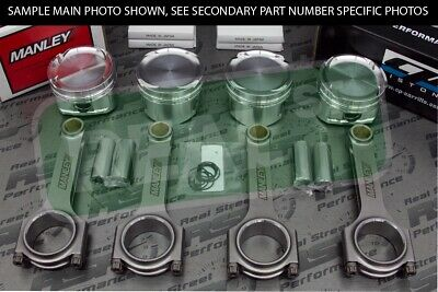 Cp Pistons Manley H-beam 156mm Rods 4g63t 7-bolt Dsm Evo 85mm 8.5:1